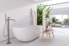 Pardoseala de granit alb pentru baie